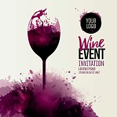 Invitation template for wine event or party