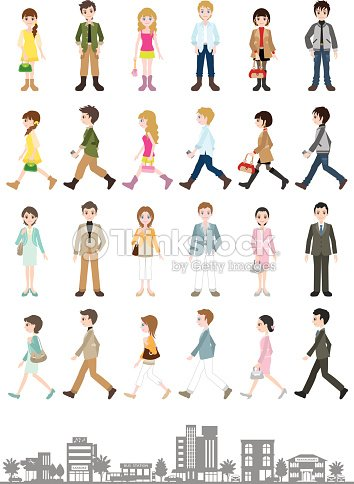 Illustrations of various people / Young people