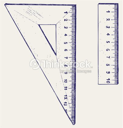 Image Displaying Two Varying Types Of Measurement Tools Vector Art