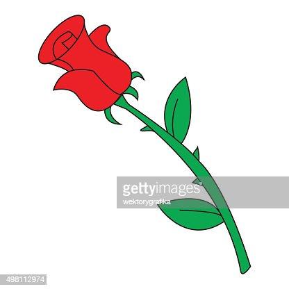 Imagen De Dibujos Animados Icono Con Rosas Rojas Vector Ilustracion