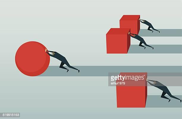 Verbesserung, Wettbewerb, Verfolgung, Herausforderungen und Hindernisse überwinden, Strategie, Effizienz, Lösung