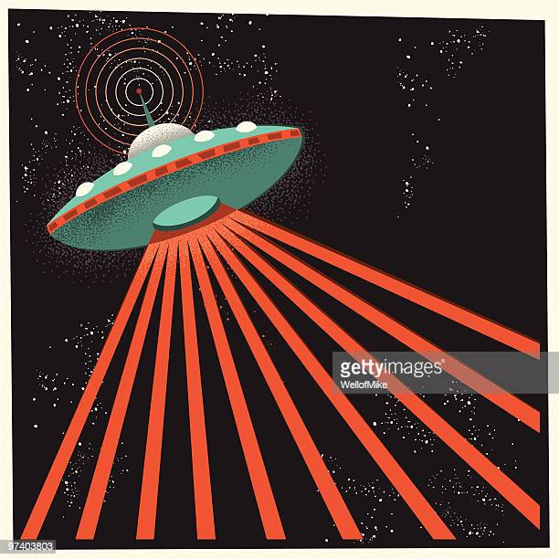 UFO in Outer Space