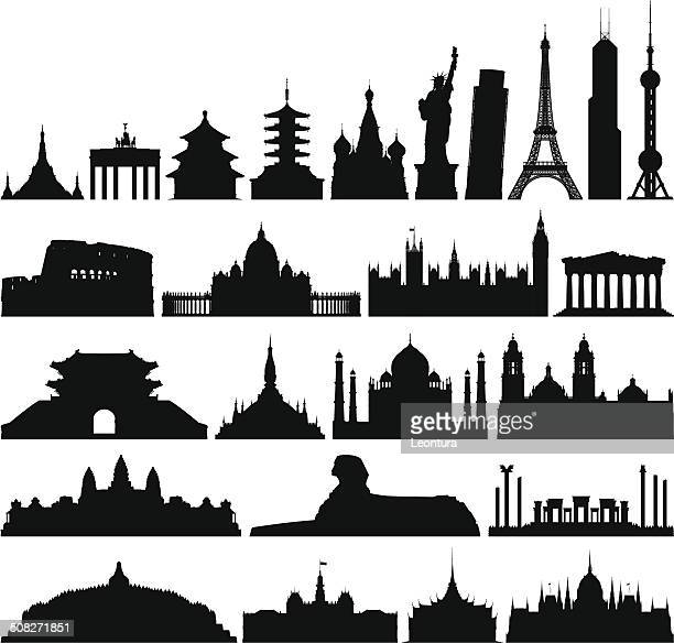 Sehr detaillierte Welt Denkmäler
