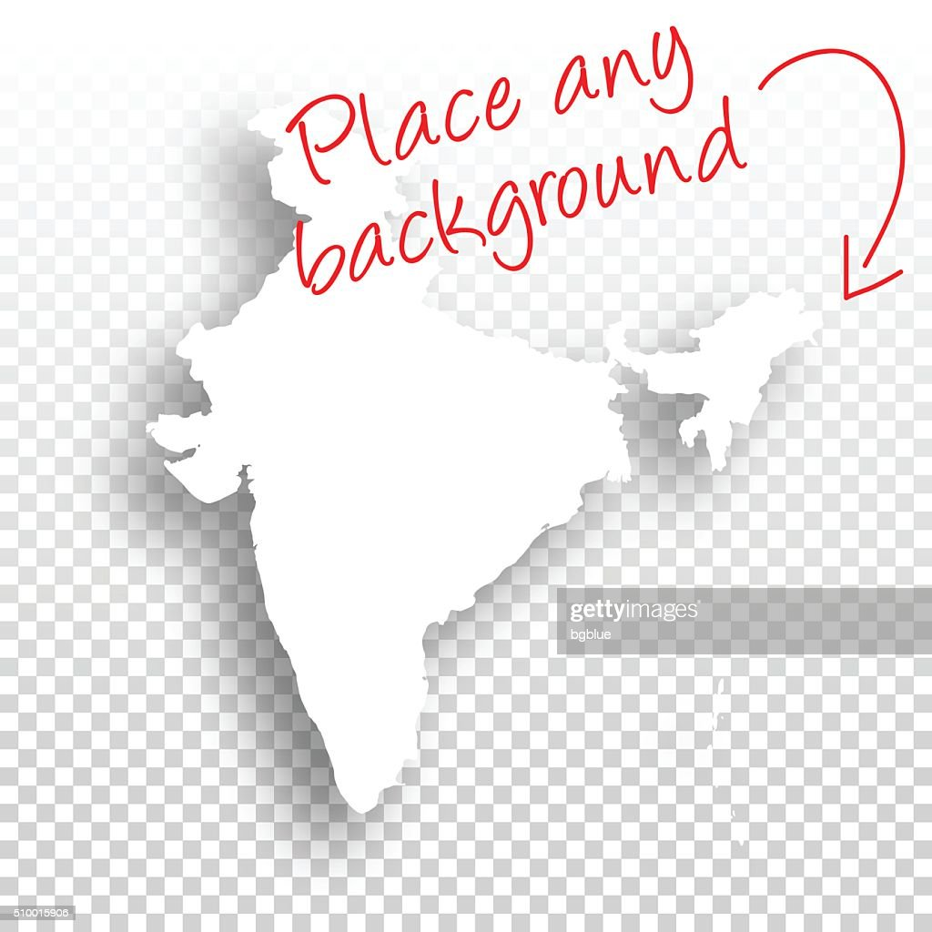 india map for design blank background vector art getty images