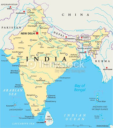 India political map vector art thinkstock india political map vector art gumiabroncs Choice Image
