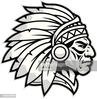 indian chief mascot vector art getty images