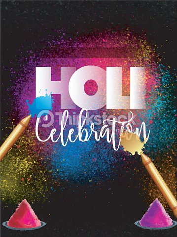 Indian festival holi party celebration template banner flyer or indian festival holi party celebration template banner flyer or invitation card design with stopboris Images