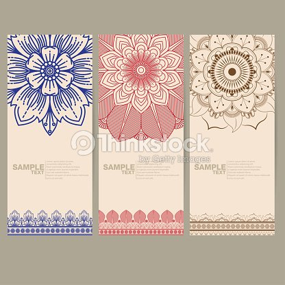 Banners De Indio Medallón Floral De Paisley Ornamento De Mandala ...