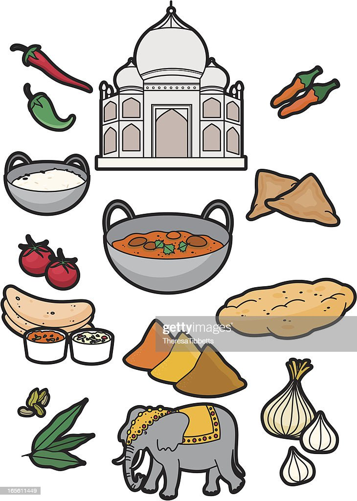 Indian food vector art getty images for Art of indian cuisine
