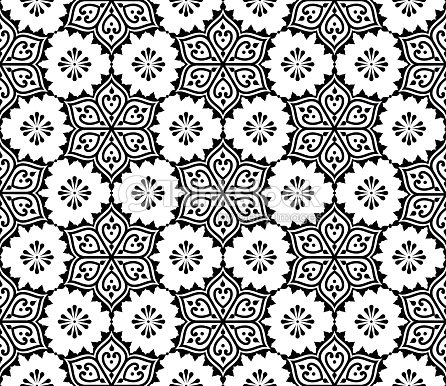 Indian Seamless Pattern Repetitive Mehndi Design Stock Vector