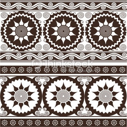 fleuri fronti re design de style indien clipart vectoriel thinkstock. Black Bedroom Furniture Sets. Home Design Ideas