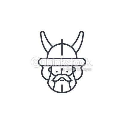 Indian Warrior Linear Icon Concept Indian Warrior Line Vector Sign