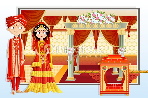 Indian wedding couple vector art thinkstock indian wedding couple vector art junglespirit Gallery
