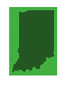 vector illustration of Indiana map