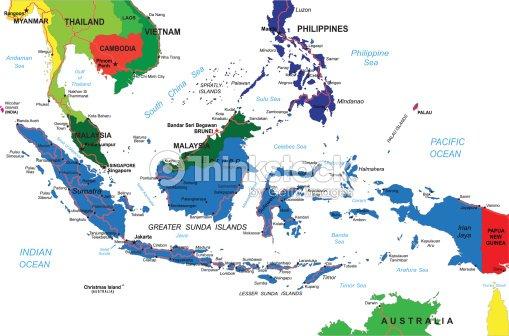 Indonesien Karte.Indonesien Karte Vektorgrafik Thinkstock