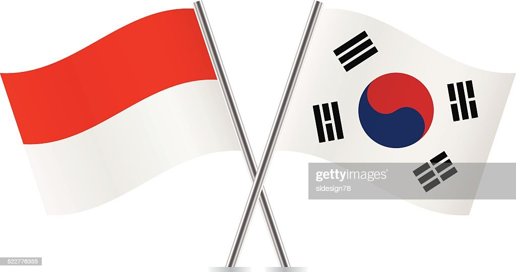 indonesian and south korean flags vector vector art thinkstock rh thinkstockphotos com korean flag vector free download korea flag vector download