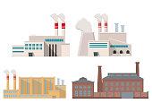 Eco style factory.City landscape