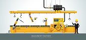 Industrial machine Factory construction equipment engineering vector