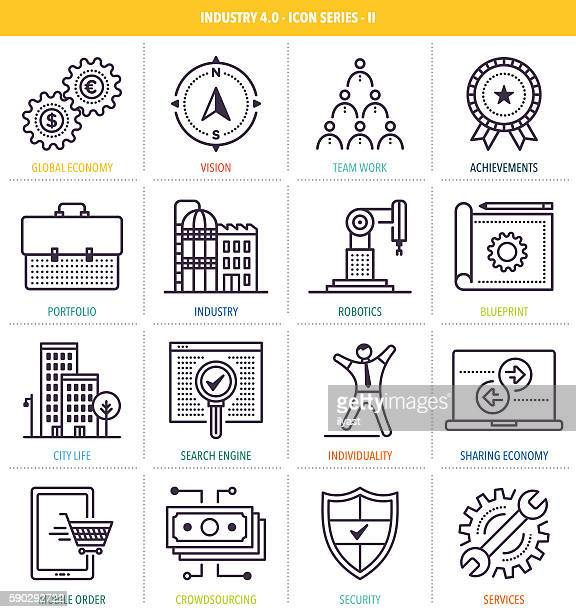 Industry 4.0 Icon Set