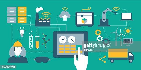Industrie 4.0  : Vektorgrafik
