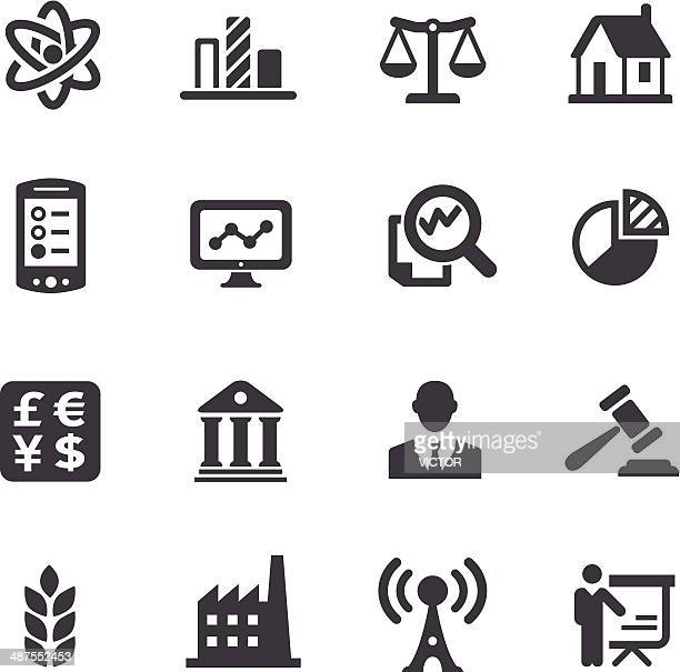 Industry and Big Data Icons - Acme Series