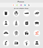 industry vector icons for user interface design