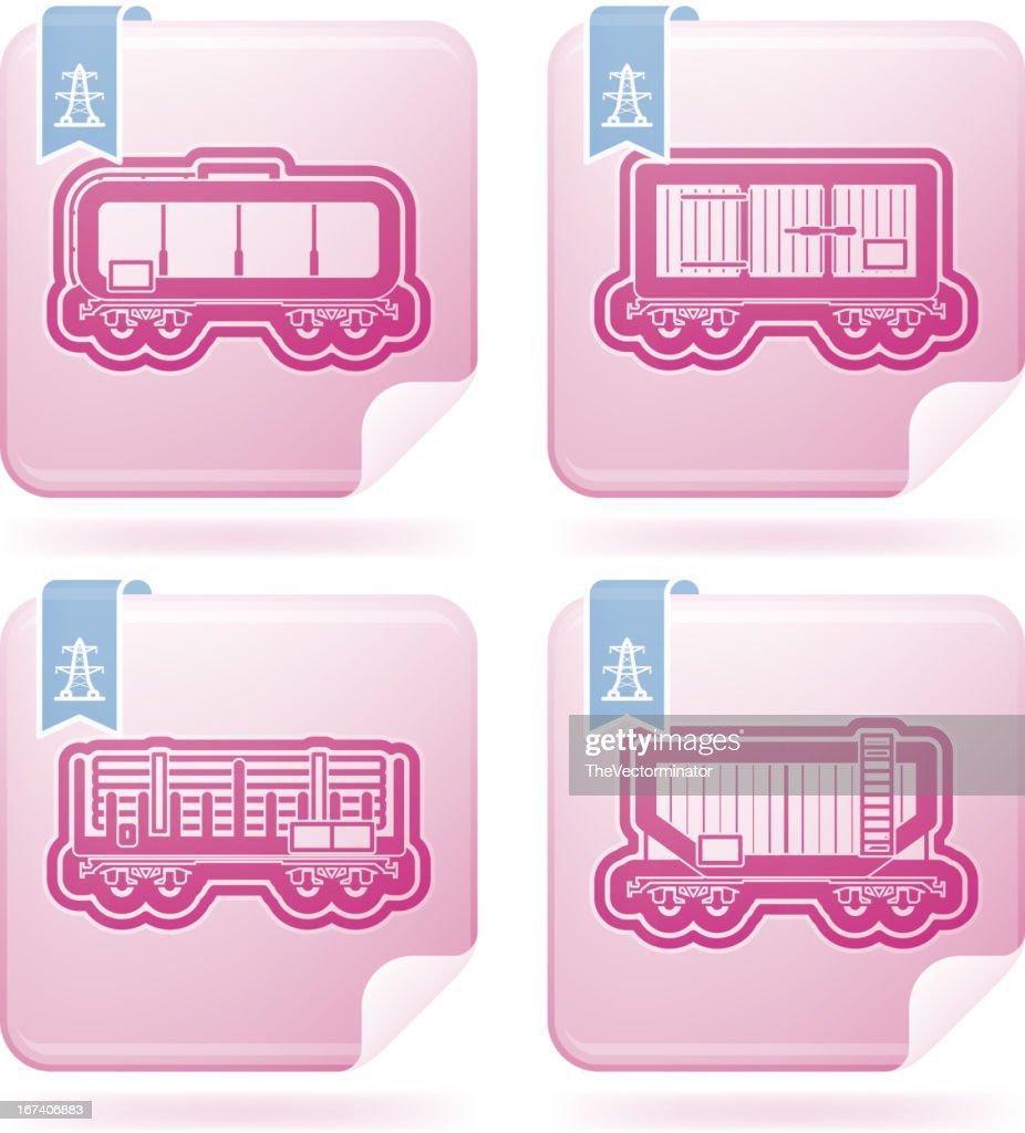 Industry Icons: Railroad transportation : Vector Art