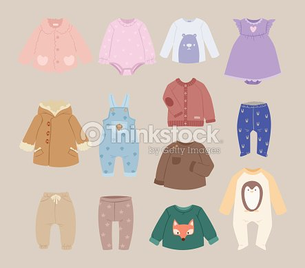 Infants baby child clothes vector : stock vector