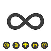 Infinity icon on white background. Vector illustration