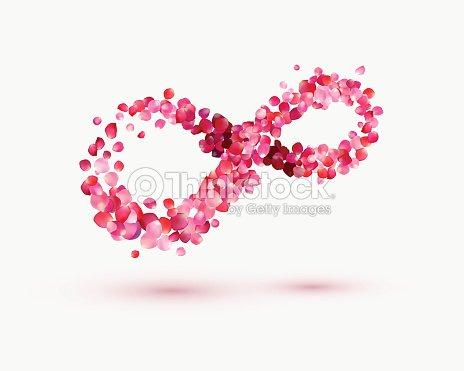 Infinity Love Symbol Of Rose Petals Vector Art Thinkstock