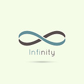 Infinity sign from the colored stripes of tape. emblem endless. The concept of eternity.