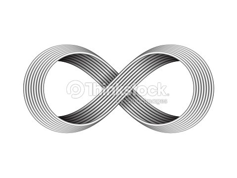 Infinity Sign Made Of Metal Cables Endless Strip Symbol Vector