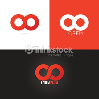 Infinity Symbol Logo Design Icon Set Background Vector Art Thinkstock