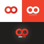 infinity symbol logo design icon set background 10 eps