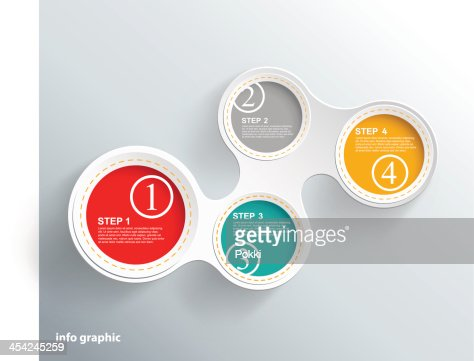 Info graphic circles with place for your text. : Vector Art
