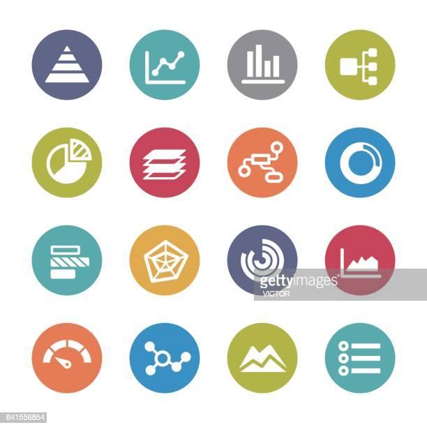 Info-Grafik-Icons - Kreis-Serie