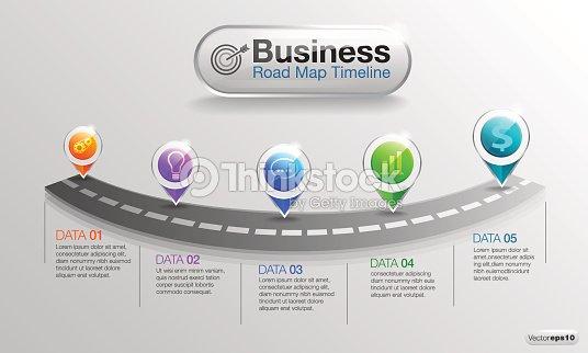 インフォ グラフィック ビジネスのロードマップ タイムライン 02