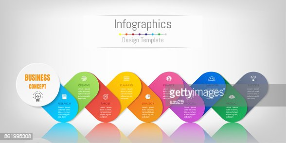 Infographic design elements for your business data with 10 options, parts, steps, timelines or processes. Vector Illustration. : stock vector