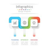 Infographic design elements for your business data with 3 options, parts, steps, timelines or processes. Connection line concept. Connection line concept, Vector Illustration.