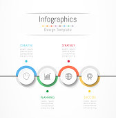 Infographic design elements for your business data with 4 options, parts, steps, timelines or processes. Vector Illustration.