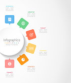 Infographic design elements for your business data with 6 options, parts, steps, timelines or processes. Circle round concept, Vector Illustration.