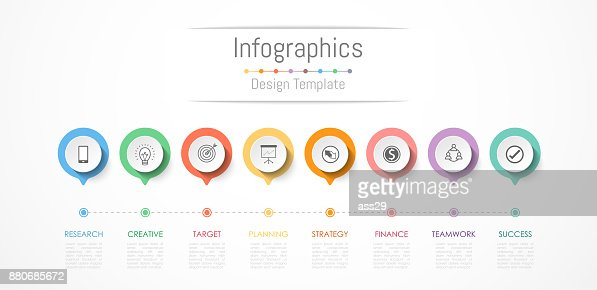Infographic design elements for your business data with 8 options, parts, steps, timelines or processes. Vector Illustration. : stock vector