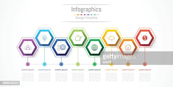 Infographic design elements for your business with 8 options, parts, steps or processes, Vector Illustration. : stock vector