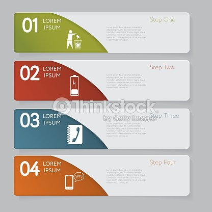 infographic design number banners template graphic or website layout