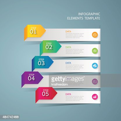 Infographic design template Business concept with 5 options : stock vector