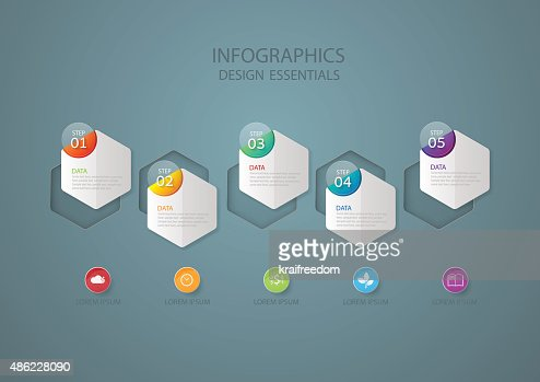 Infographic design template, Business concept with 5 options : stock vector