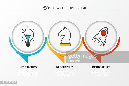 Infographic Design Template Organization Chart With 3 Steps Vector