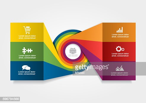 Infographic design template. Vector illustration. : stock vector