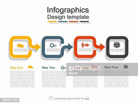 Plantilla de diseño de infografía con el lugar para sus datos. Ilustración de vector. : Arte vectorial