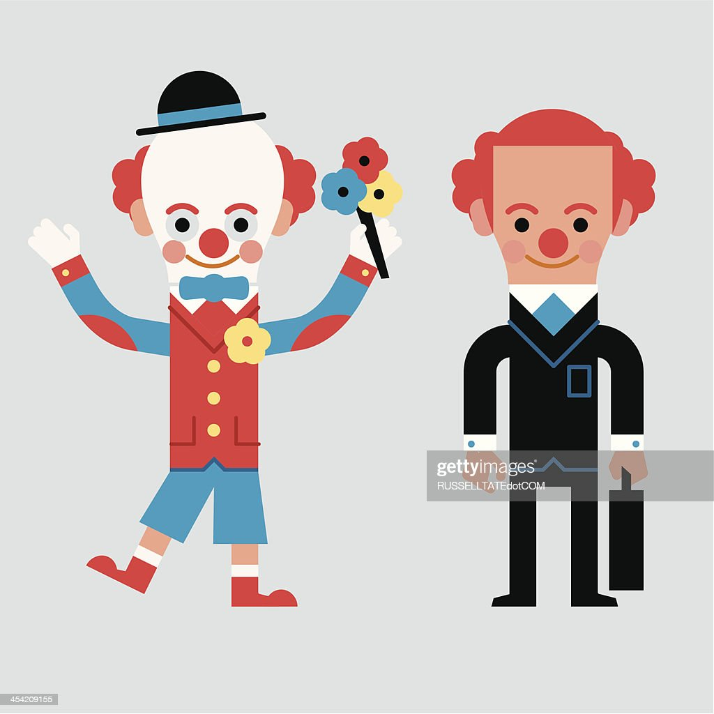 InfoGraphic Don't be a Clown : Vector Art
